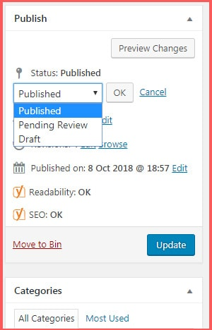 How to draft a blog post in WordPress
