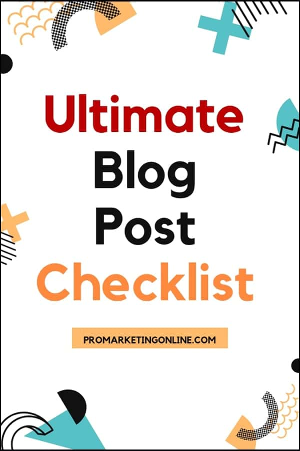 Ultimate Blog Post SEO Checklist for the Perfect Blog Post
