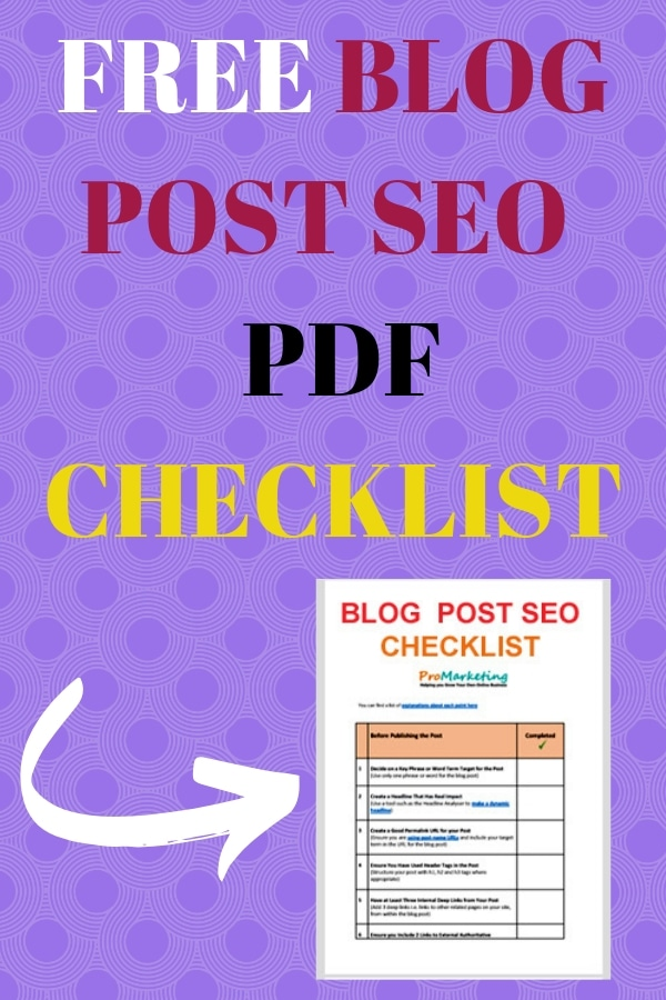 Free Blog Post SEO Checklist to Download