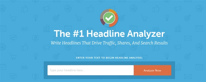 Headline checker tool for creating blog post titles